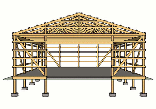 How much does a large pole barn cost large pole barn for Average cost of building a pole barn home